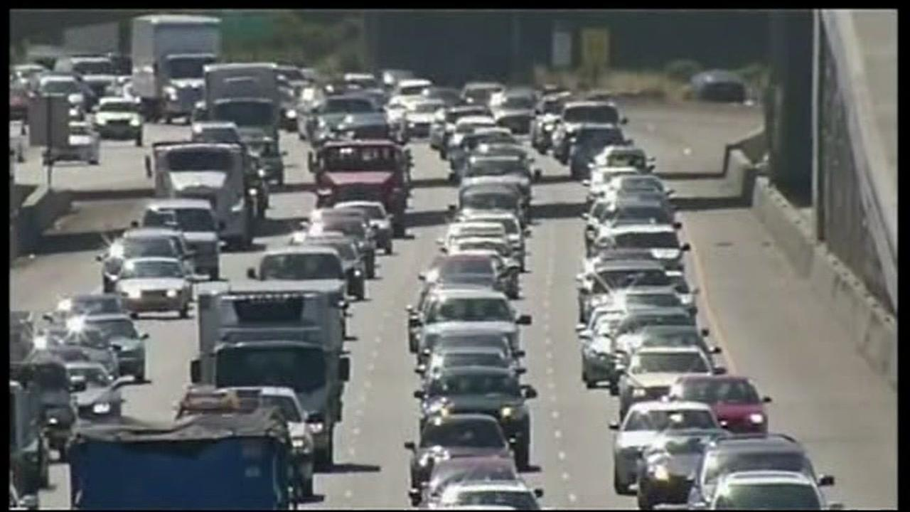 This undated photo shows the commute on Highway 101 in the South Bay Area.
