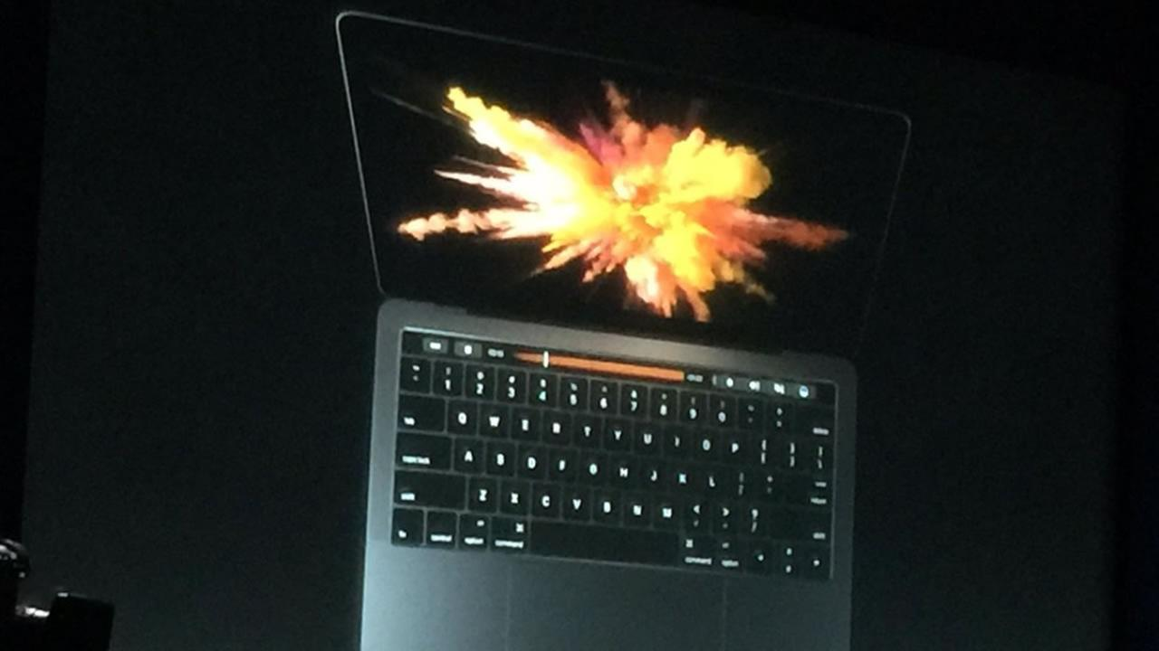 The new MacBook Pro was unveiled at an Apple Event on Thursday, Oct. 27, 2016 in Cupertino, Calif.
