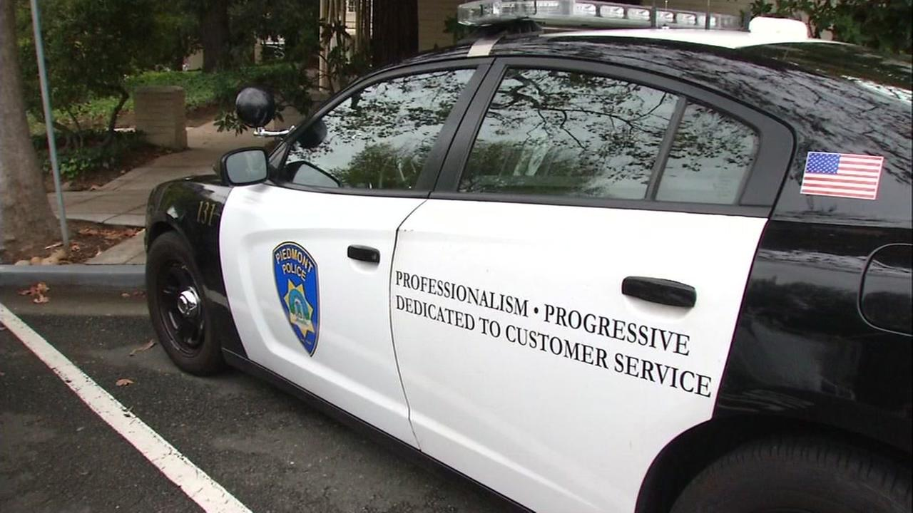 This undated image shows a Piedmont police car.