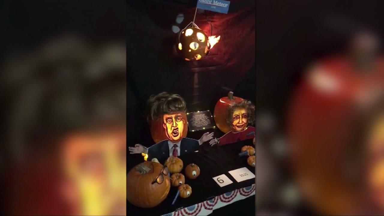 This undated image shows part of the NASA pumpkin creations for Halloween 2016.