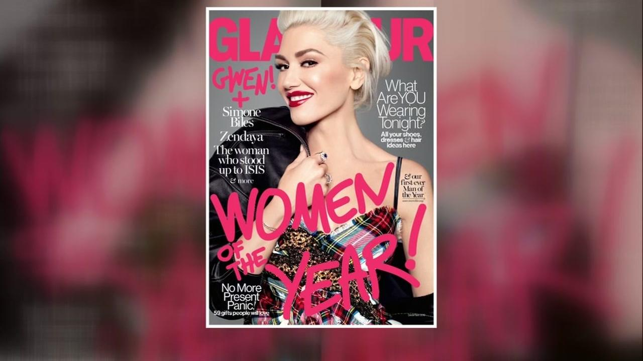 This undated image shows the Dec. 2016 issue of Glamour magazine.