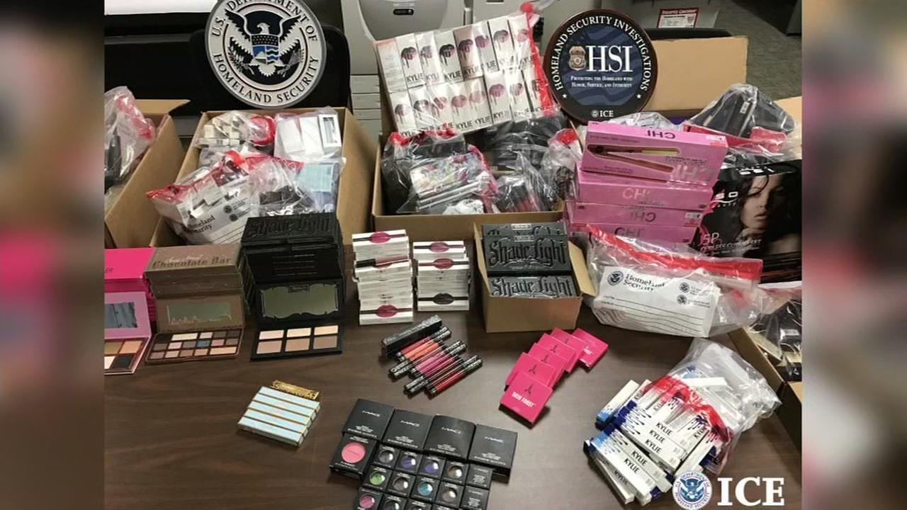 This undated image shows fake cosmetics.