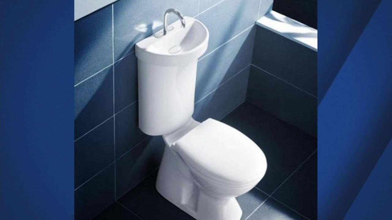 This image shows the toilet/ sink proposed for the tiny in apartments in San Francisco, Calif.