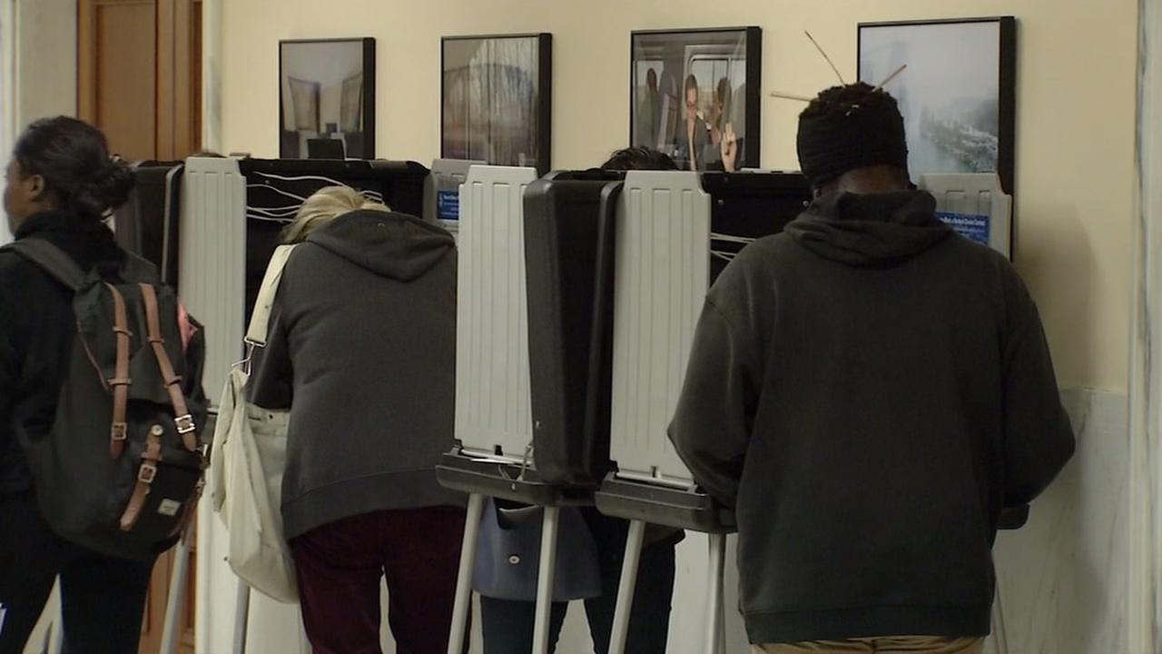 People vote early in San Francisco on Sunday, Nov. 6, 2016.