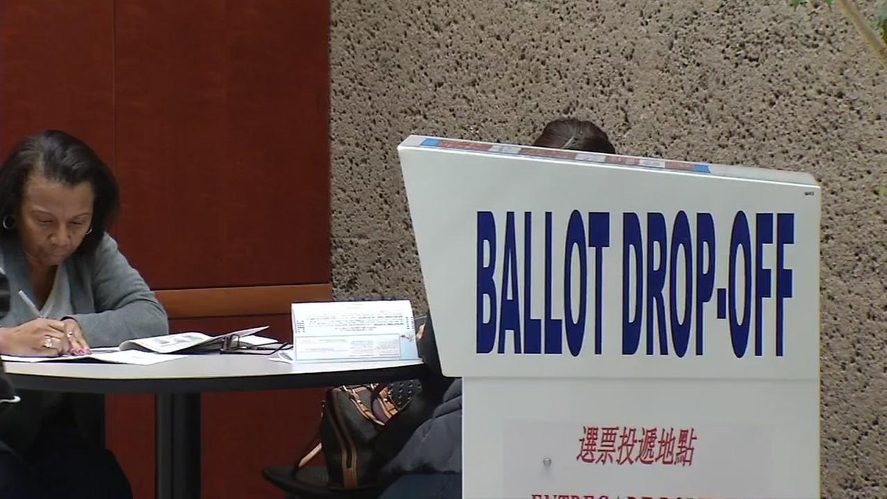 Workers at Santa Clara County registrar of voters, Tuesday, November 8, 2016.