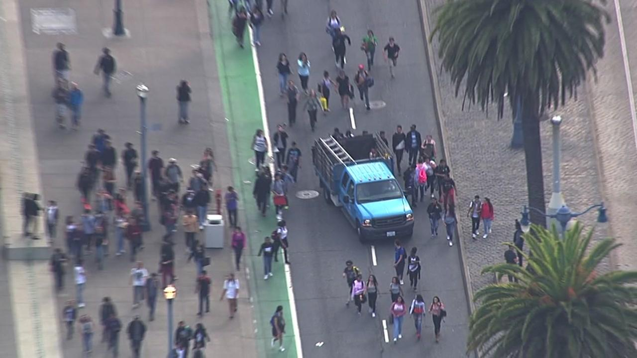 Massive protest over Donald Trump through streets of San Francisco, Thursday, November 10, 2016.KGO--TV
