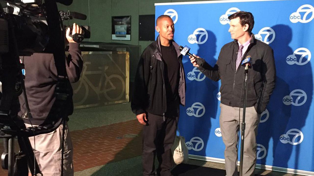 ABC7s Matt Keller interviews viewer about election and future, Fremont, California, Thursday, November 11, 2016.
