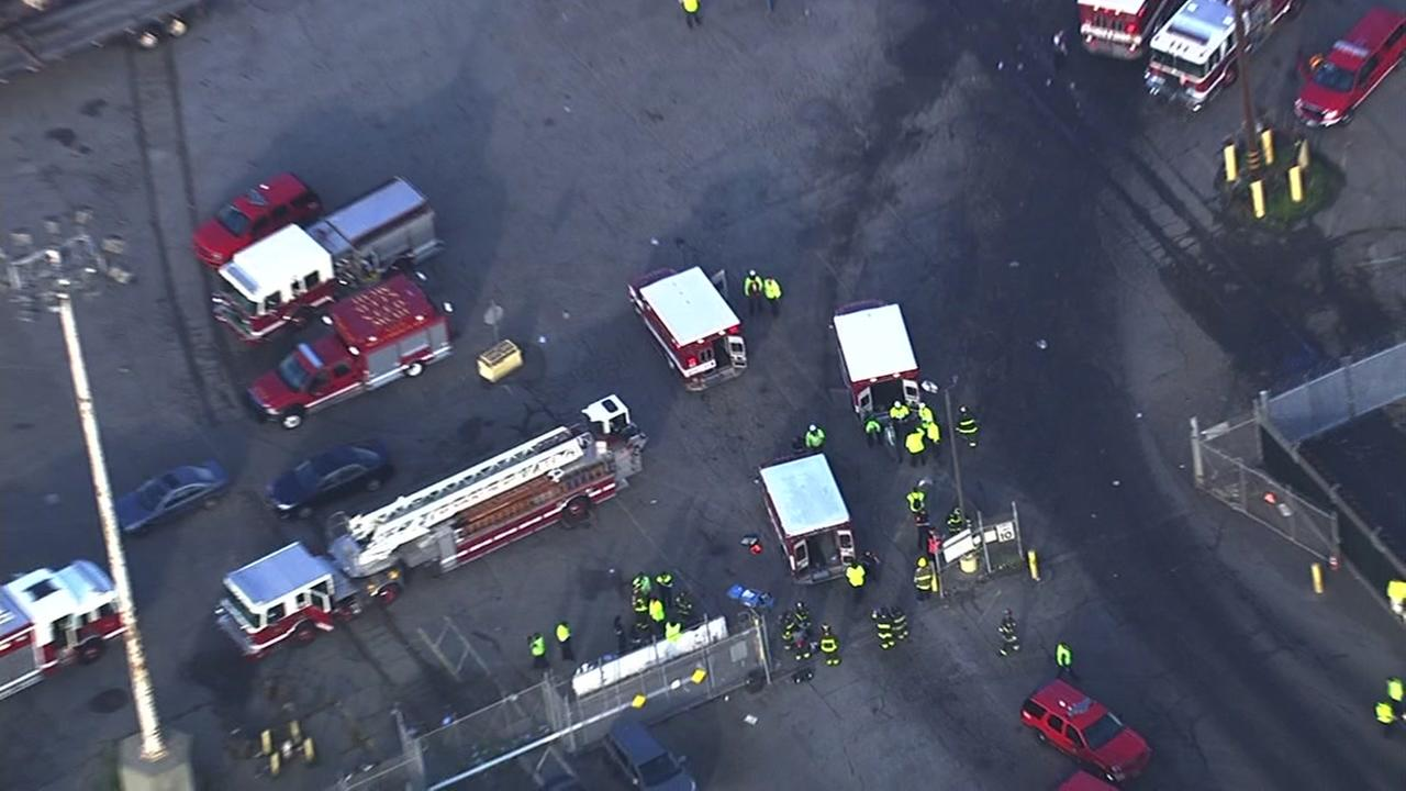 Crews respond to a possible hazmat situation at San Franciscos Pier 96 on Friday, Nov. 11, 2016.