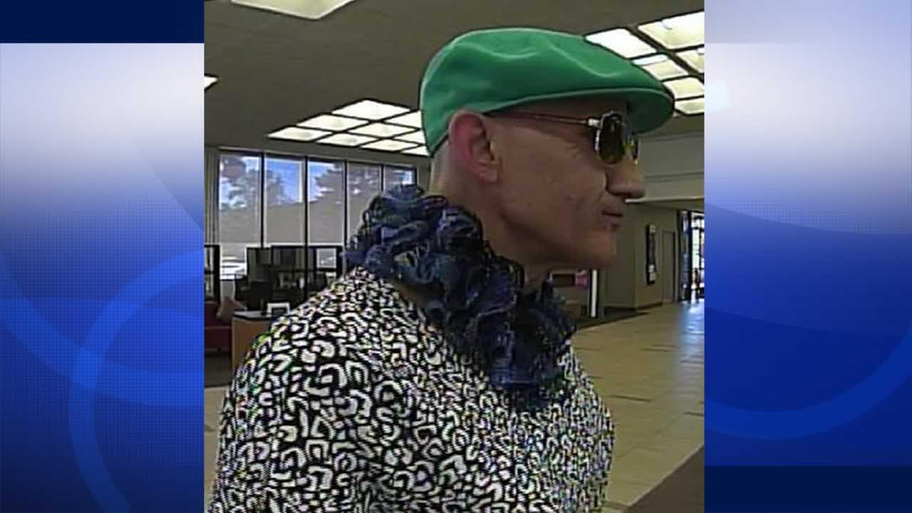 Suspected Burlingame bank robber.