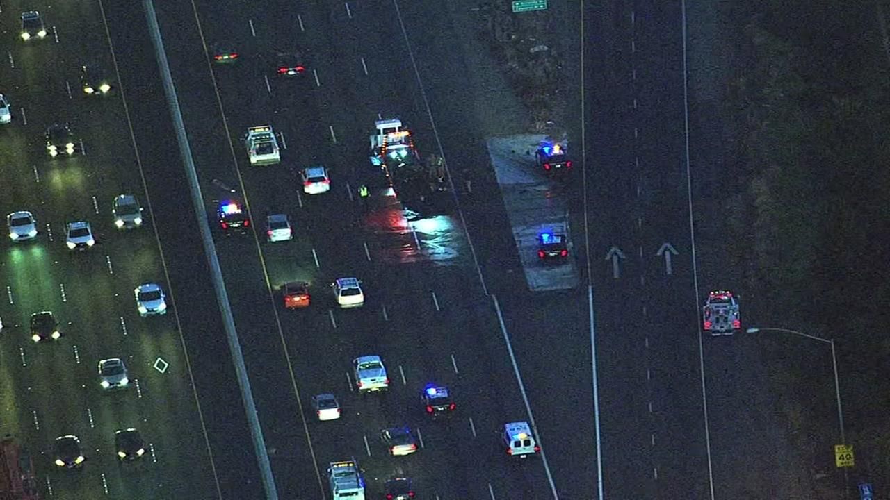 Accident on I-880 in Milpitas, California, Thursday, November 17, 2016.