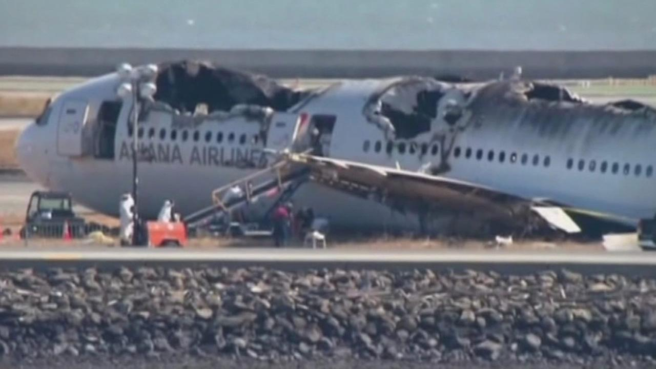 Asiana Flight 214 crash at SFO.