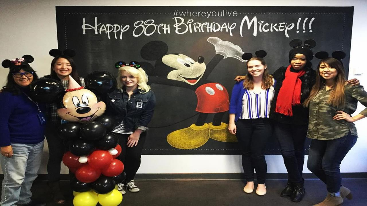ABC7 News Bay Area celebrates the 88th Birthday of Mickey Mouse in San Francisco on Nov. 18, 2016.