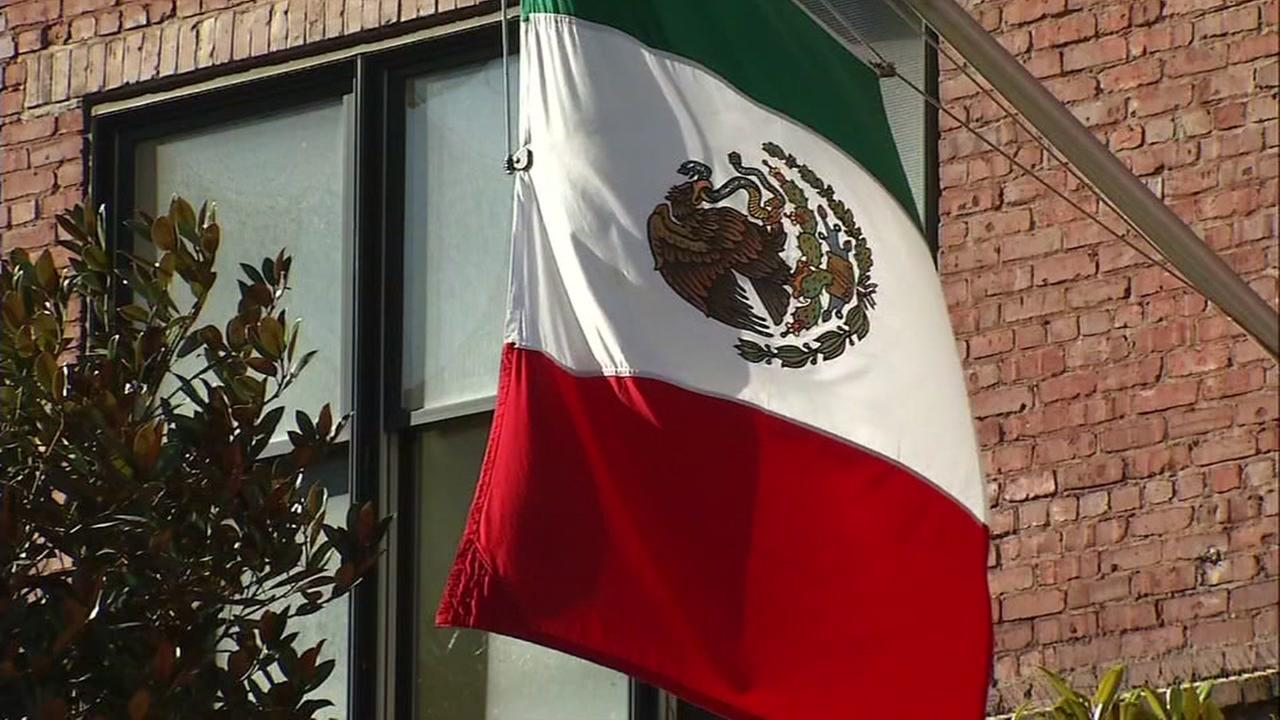 This is an undated image of the Mexican flag.