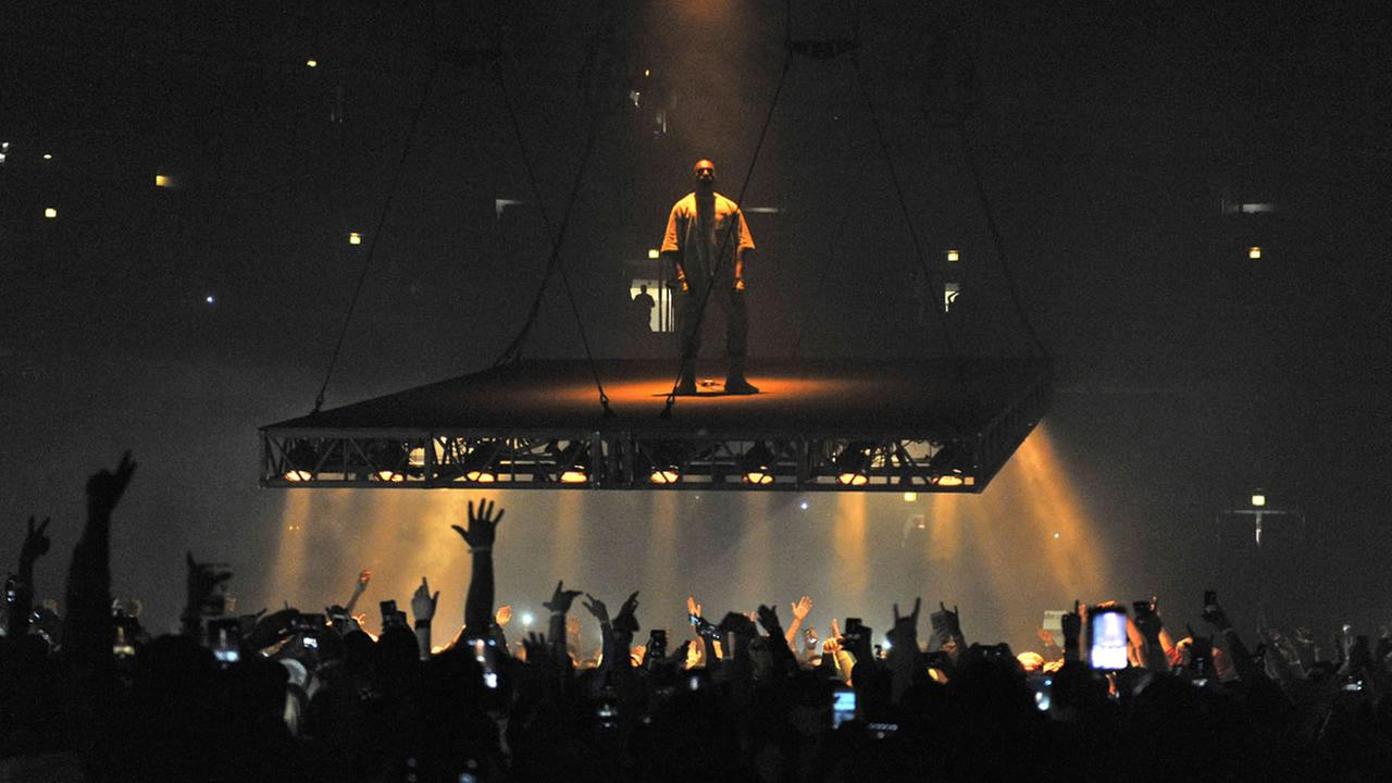 Kanye West performs at the United Center on Friday, Oct 7, 2016, in Chicago.