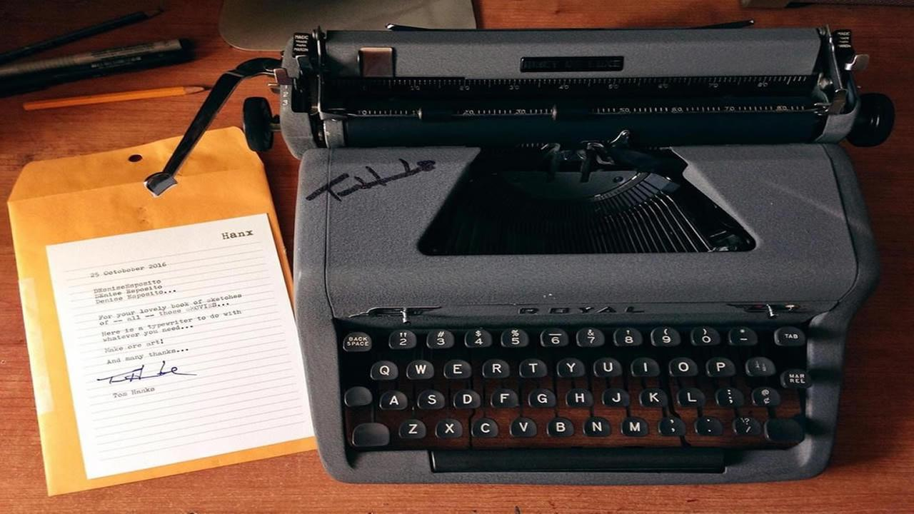 This is an undated image of Tom Hanks typewriter, given as a gift to Denise Esposito.