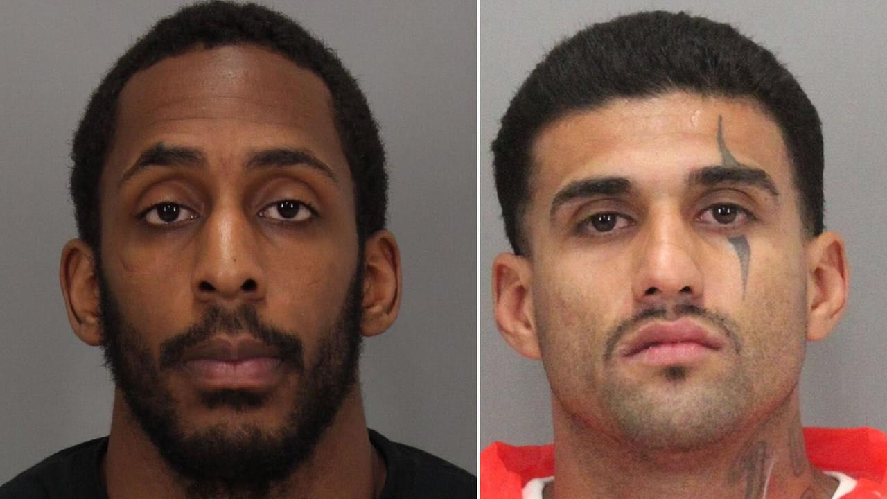 The escaped inmates have been identified as Lanon Campbell, left, and Rogelio Chavez, right.
