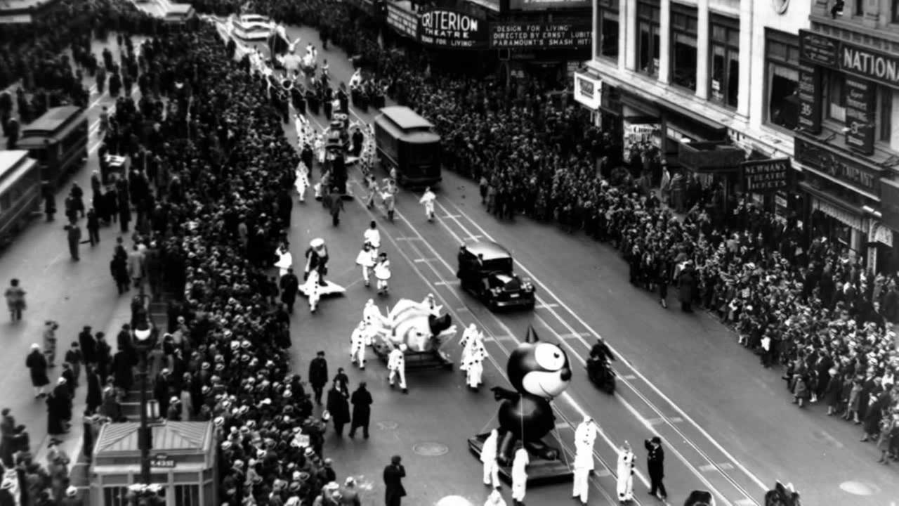 This is a photo of the Macys Thanksgiving Day Parade on Broadway in New York City on Nov. 30, 1933.AP Photo