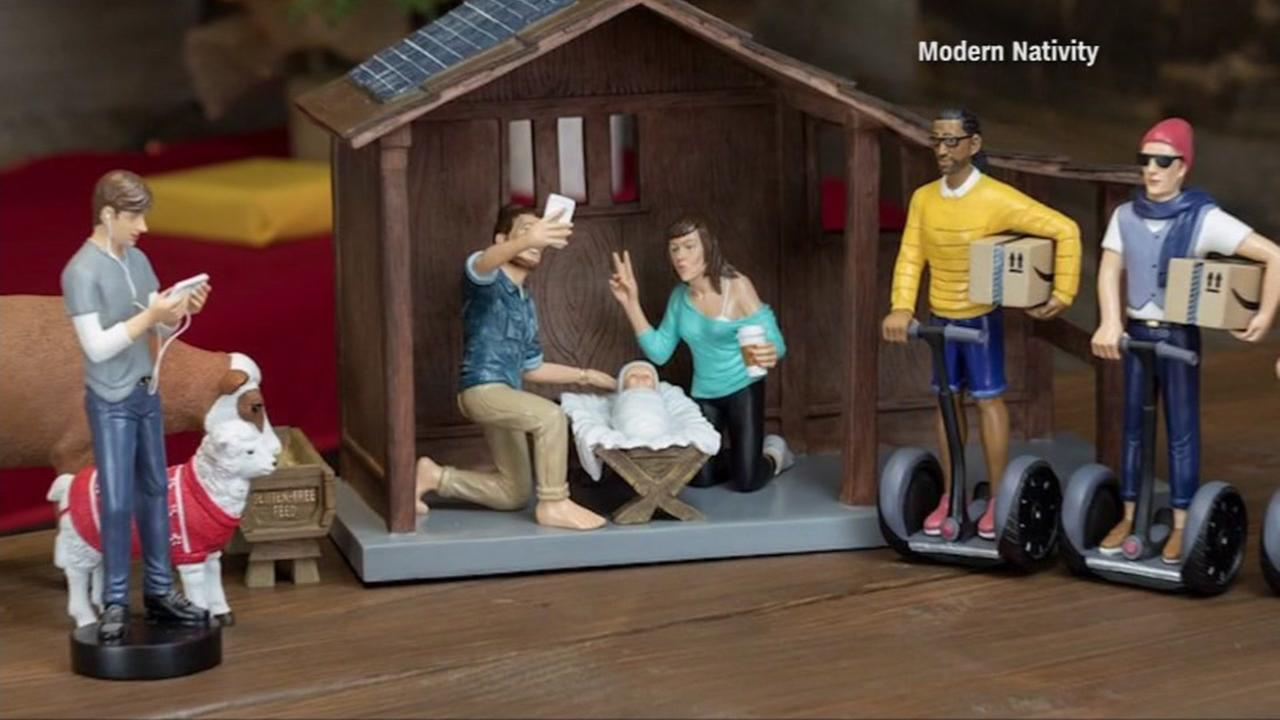 This is an undated image of the hipster nativity scene.