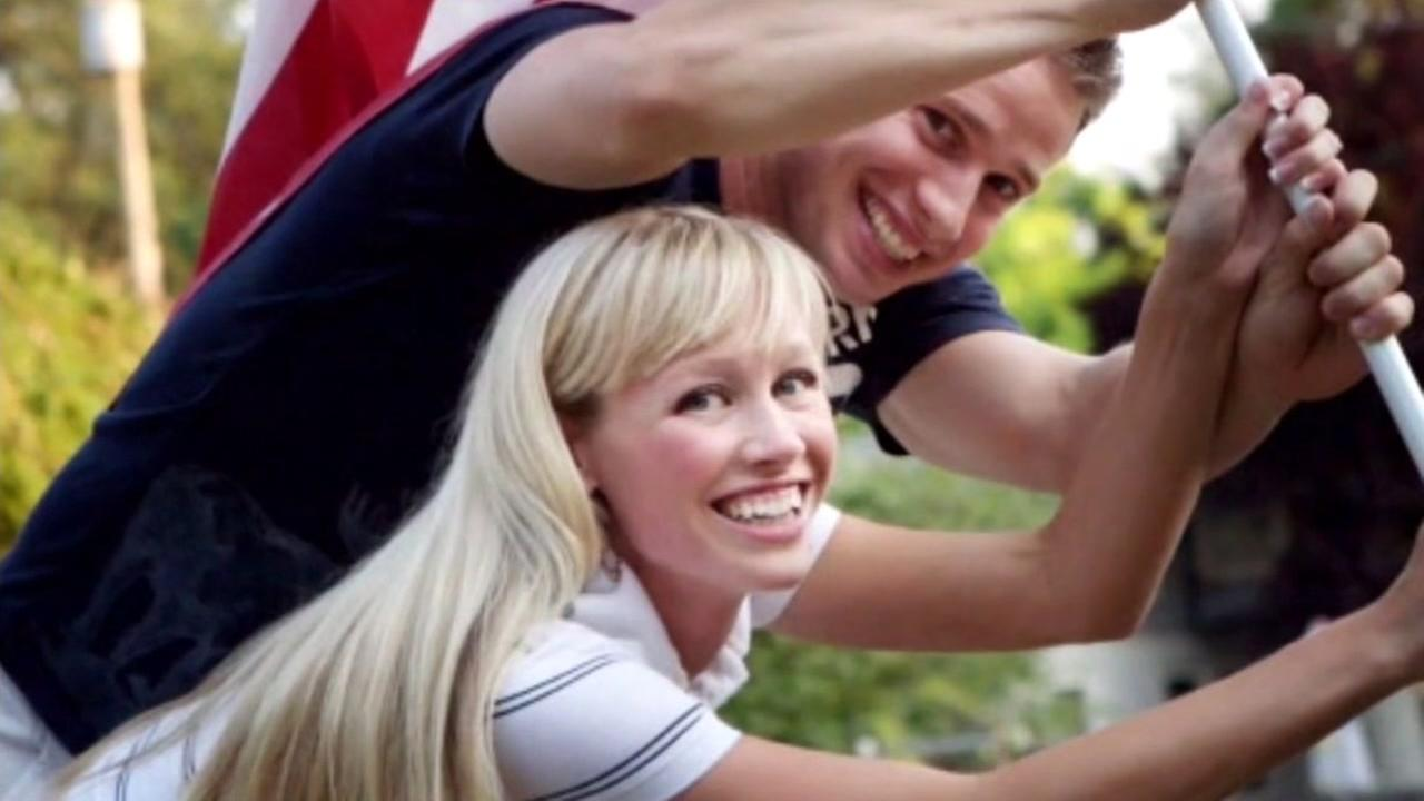 This undated photo shows Redding, Calif. woman Sherri Papini and her husband Keith.