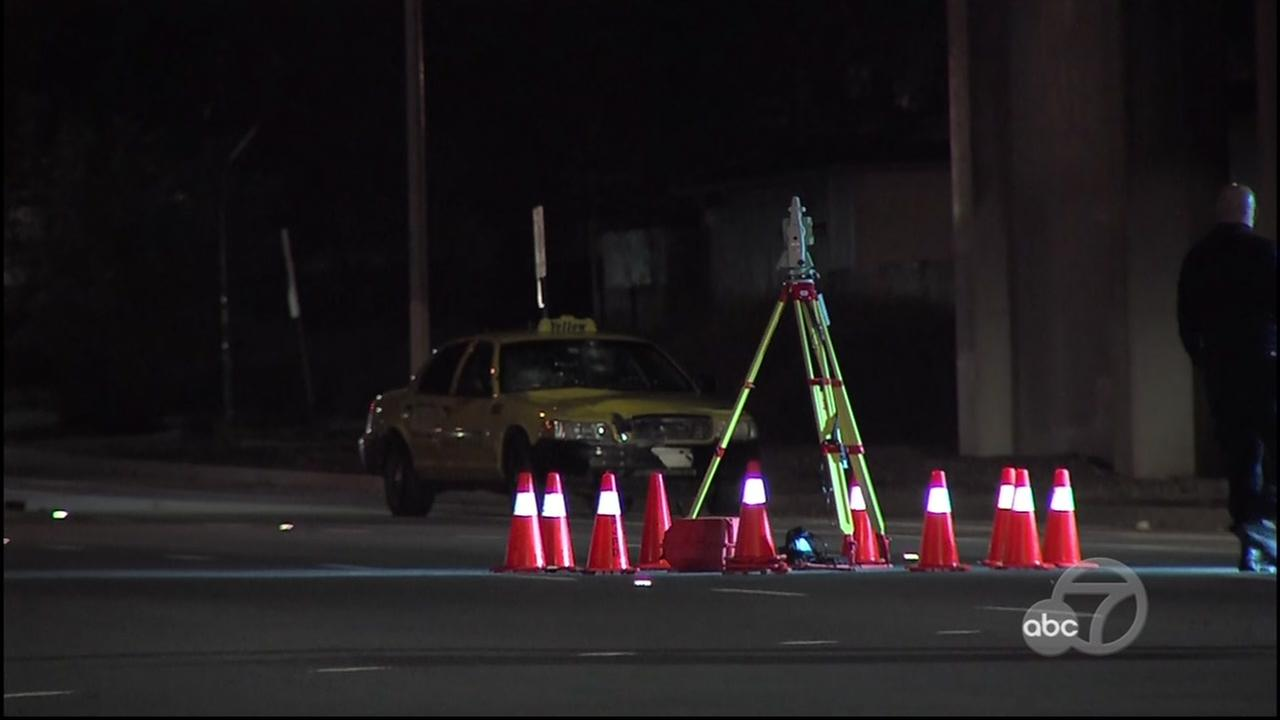 Police are investigating a collision that killed a pedestrian in south San Jose, Calif. on Tuesday, Nov. 29, 2016.