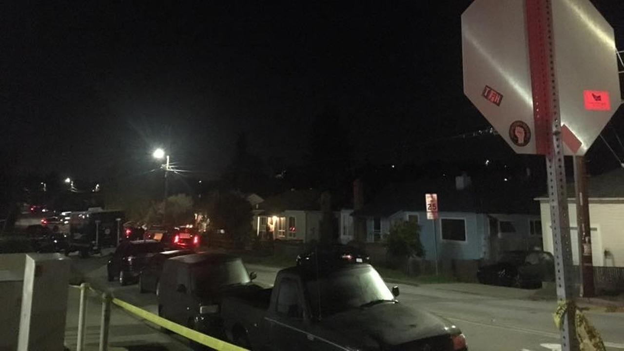 Homicide scene in Castro Valley, California, Tuesday, November 29, 2016.