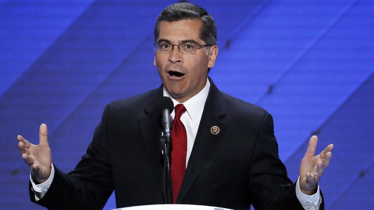 Rep. Xavier Becerra, D-Calif. during the final day of the Democratic National Convention in Philadelphia , Thursday, July 28, 2016.
