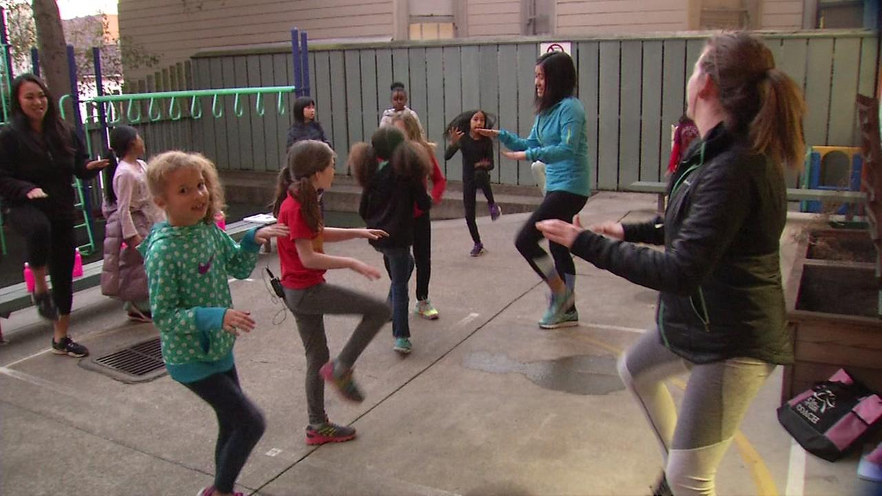 Girls on the Run practice in San Francisco.