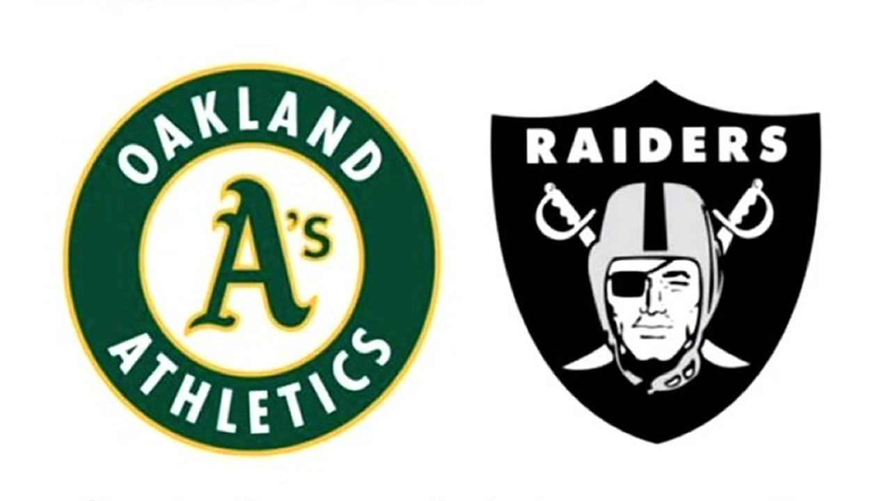 The Oakland Raiders and Athletics posted this image on Dec. 3, 2016.