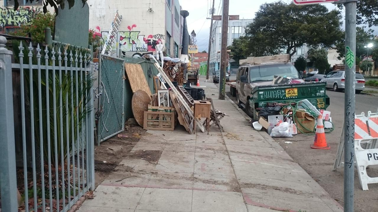 Photos building inspectors shows blight outside the Ghost Ship warehouse before the fire. An inspector shot these pictures on November 14, 2016 as a result of a complaint.