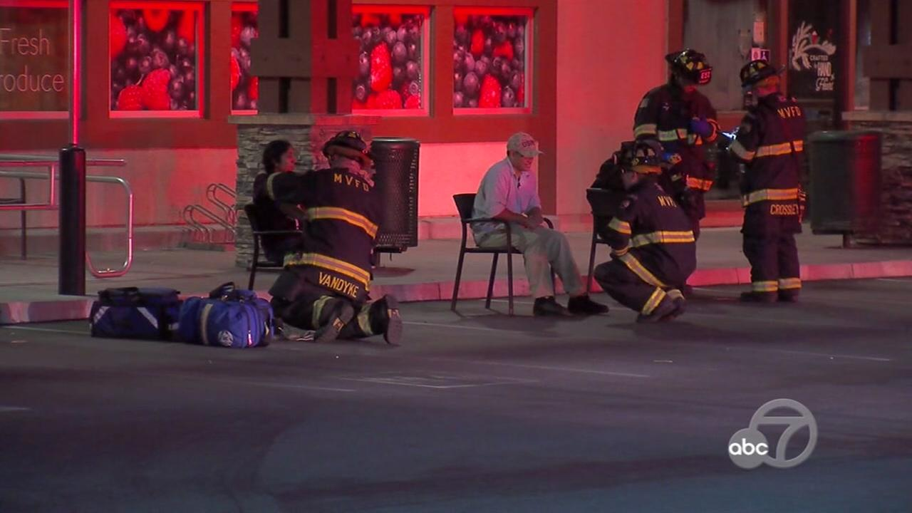 At least one Starbucks employee had to be treated by paramedics after a possible hazmat situation on Tuesday, Dec. 13, 2016 in Mountain View, Calif.