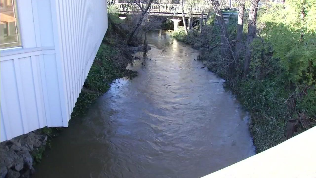 A creek in San Anselmo went back to normal levels on Dec. 16, 2016.