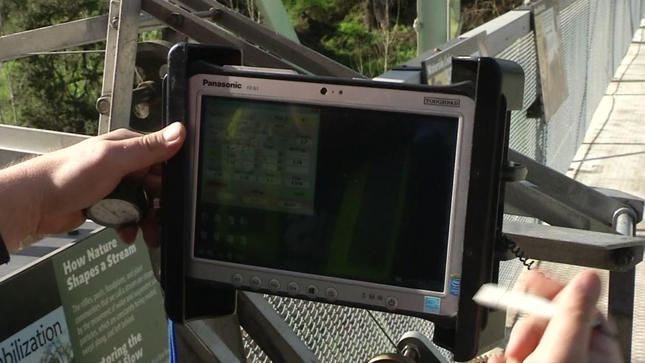 The USGS uses equipment near streams in Pleasanton, Calif. on Dec. 16, 2016.
