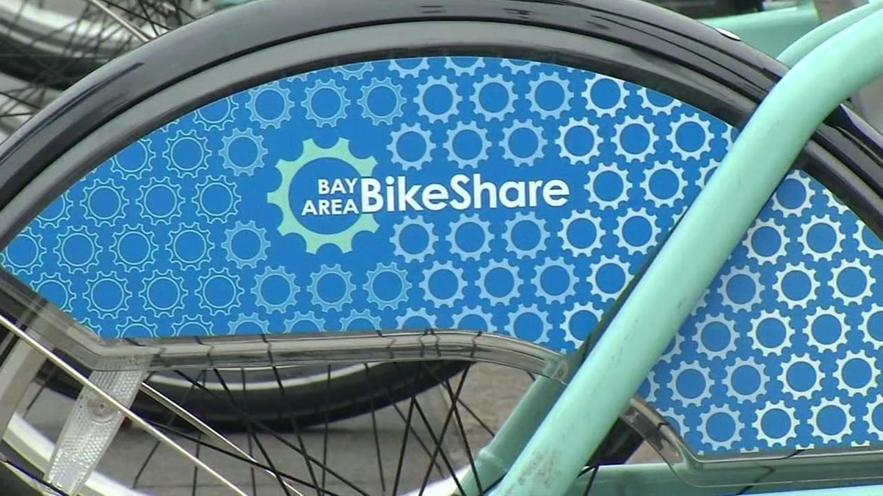 This is an undated image of a Bay Area Bike Share bicycle.