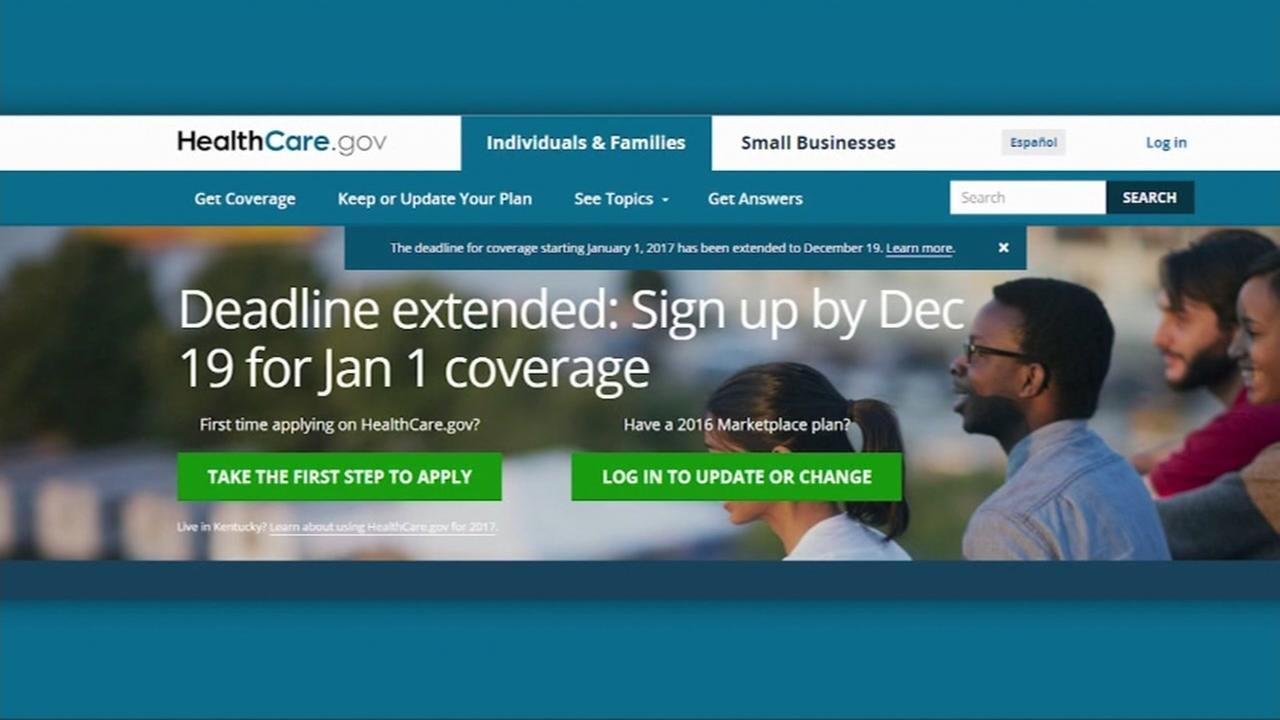 This is an undated screenshot of the Obamacare website.