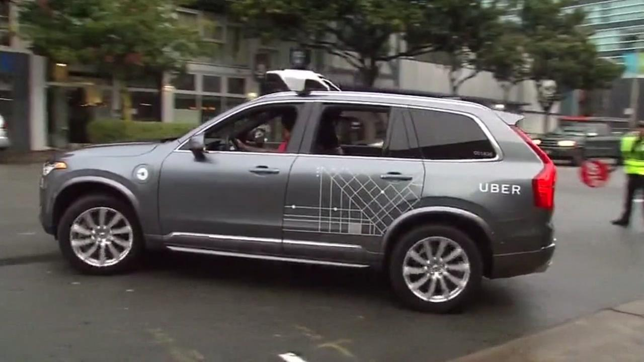 FILE -- Self-driving Uber vehicle