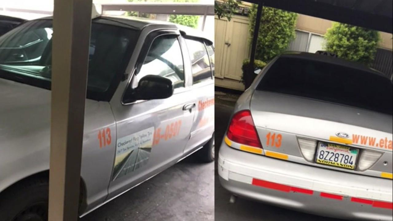 This is an undated image of the taxi cab used by Julio Sanchez, a man accused of sexually assaulting a passenger.