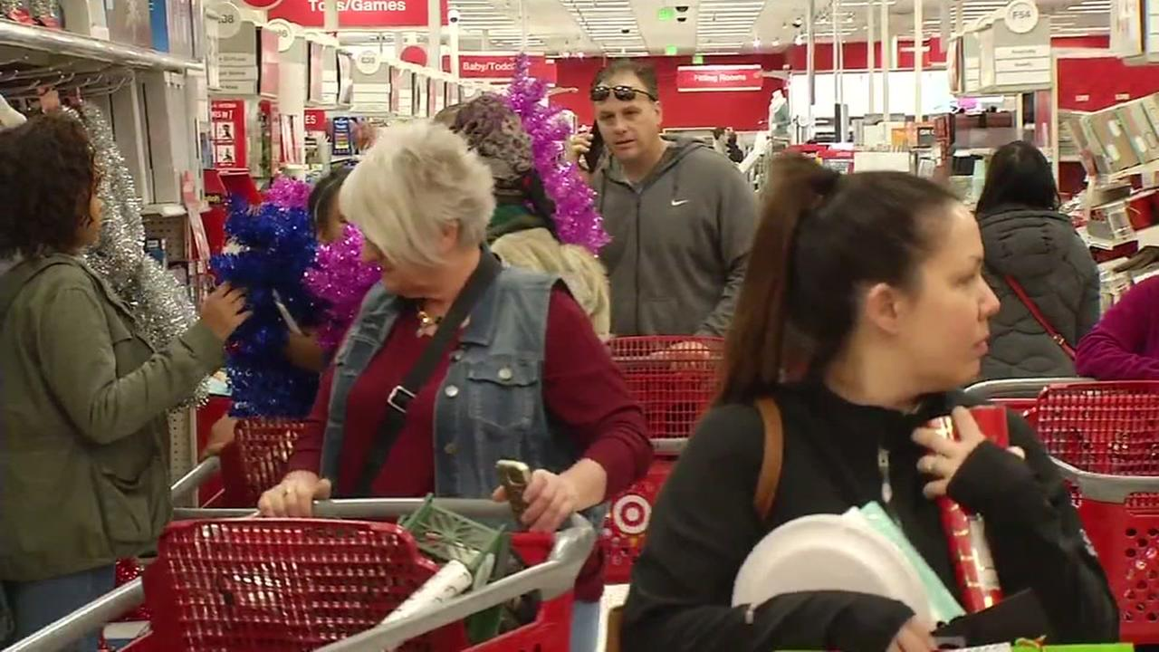 Shoppers at Target, Colma, California Monday, December 26, 2016.