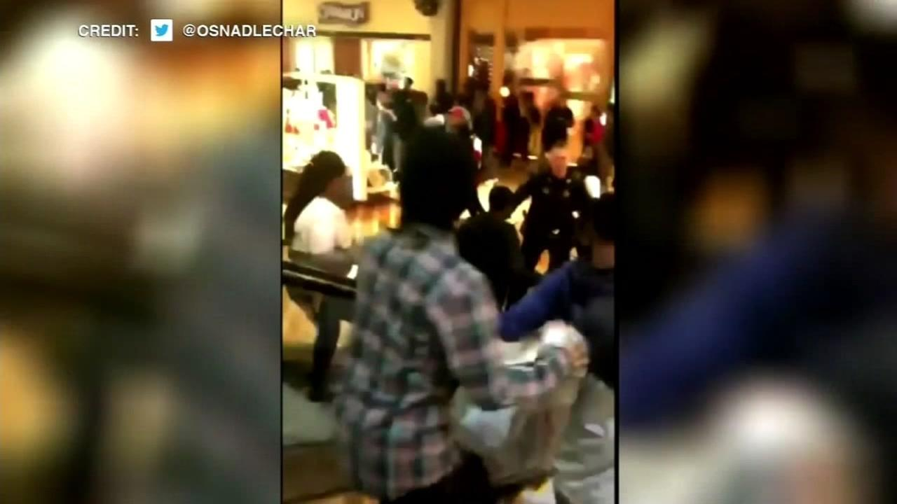 Violence and chaos erupted at malls across the country.