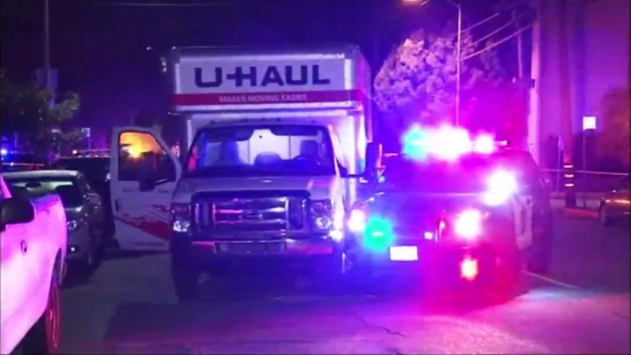 Police say three suspects stole a U-Haul and planned to load it up with stolen goods in Hayward, Calif. on Wednesday, Dec. 28, 2016.
