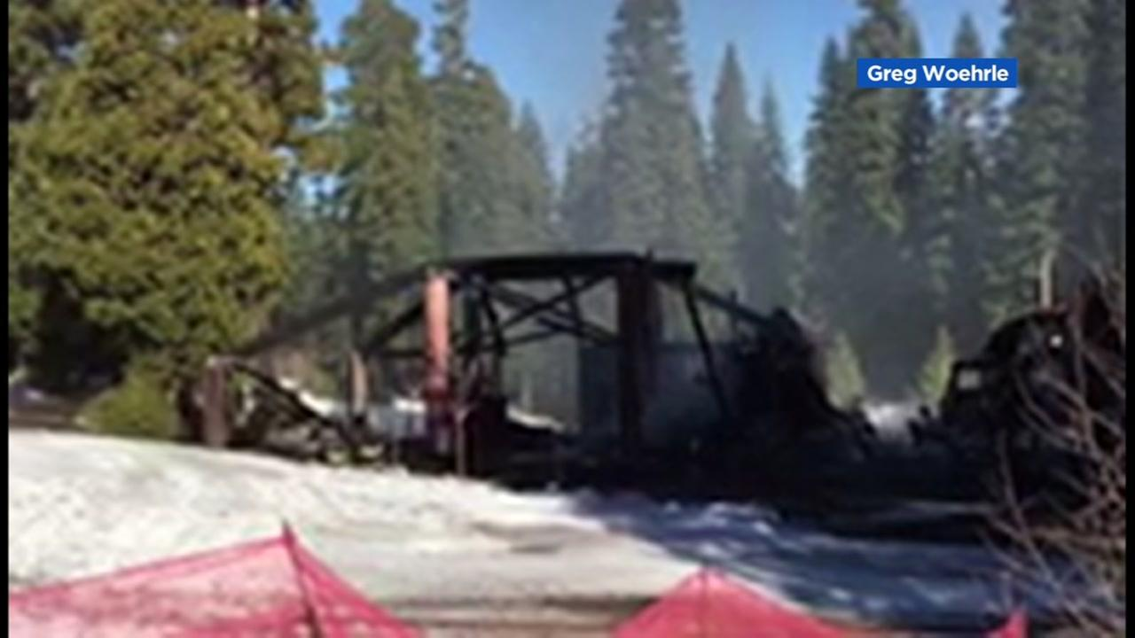 Lafayette resident Greg Woerhle shot a video of the smoldering rubble at Homewood Mountain Resort in Lake Tahoe, Calif. on Wednesday, Dec. 28, 2016.