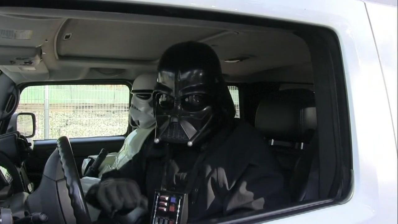 People wearing Star Wars costumes appear in a PSA for the Mountain View, Calif. police.