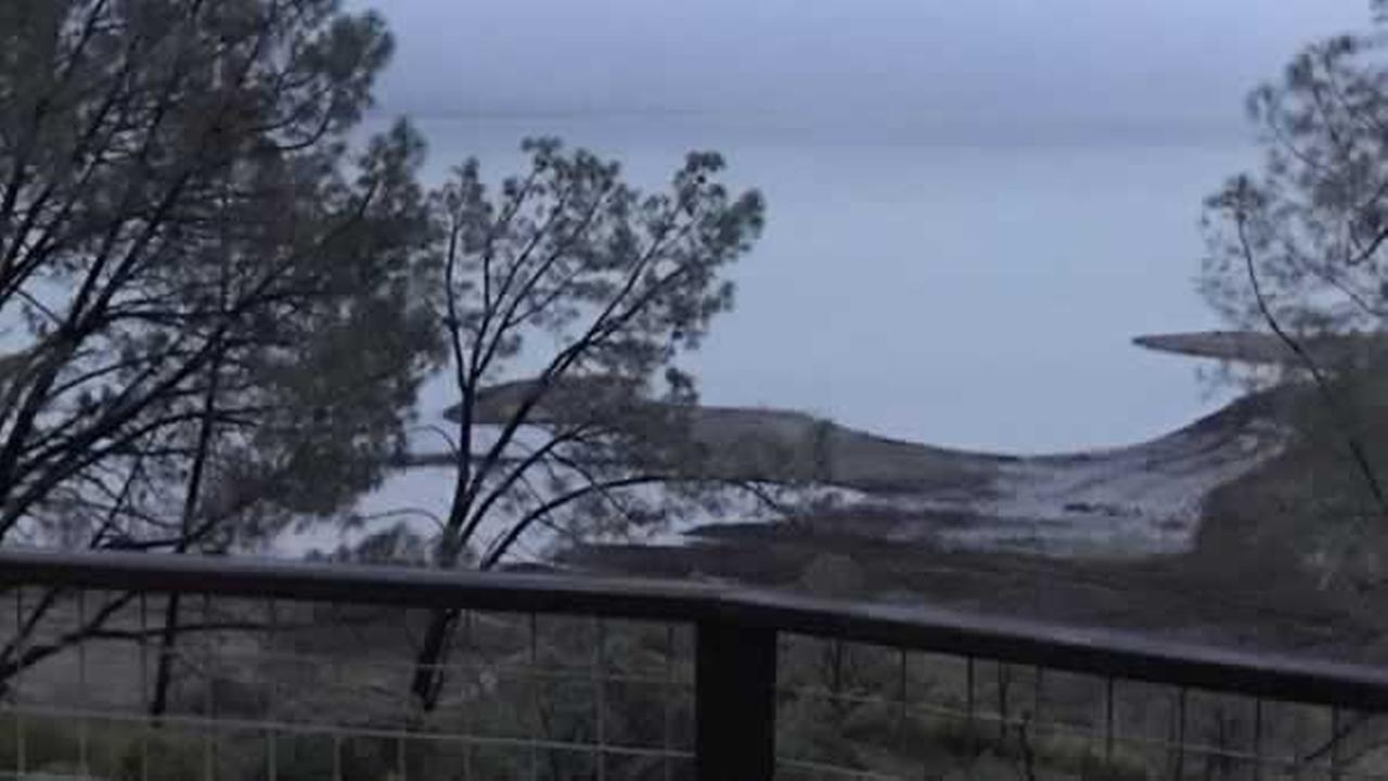 Heres a look at the stormy conditions at Lake Berryessa on Sunday, January 8, 2017.Photo submitted to KGO-TV by KenBurkhart/Twitter