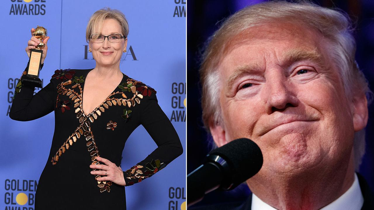 Actress Meryl Streep and President-elect Donald Trump.