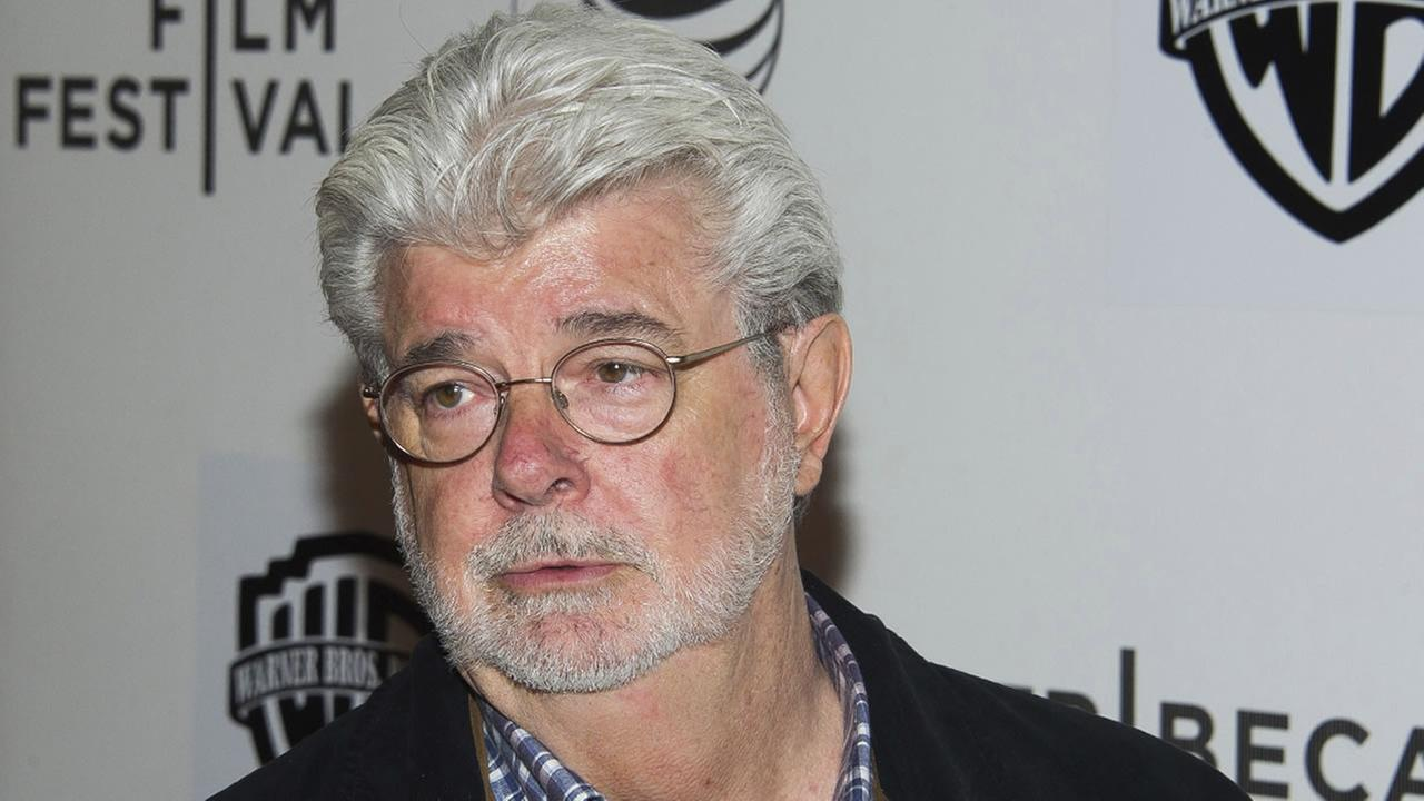 In this April 17, 2015, file photo, filmmaker George Lucas attends the Tribeca Film Festival in New York.