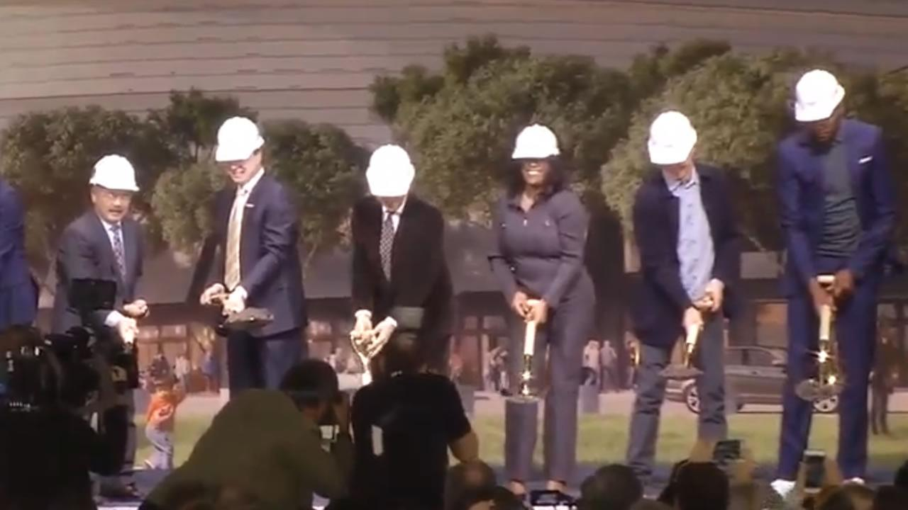 The Warriors held a groundbreaking ceremony for their new arena in San Francisco on Tuesday January 17, 2017KGO-TV