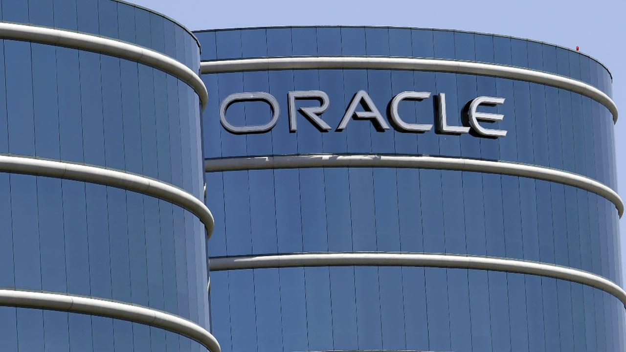 This June 18, 2012, file photo shows Oracle headquarters in Redwood City, Calif.