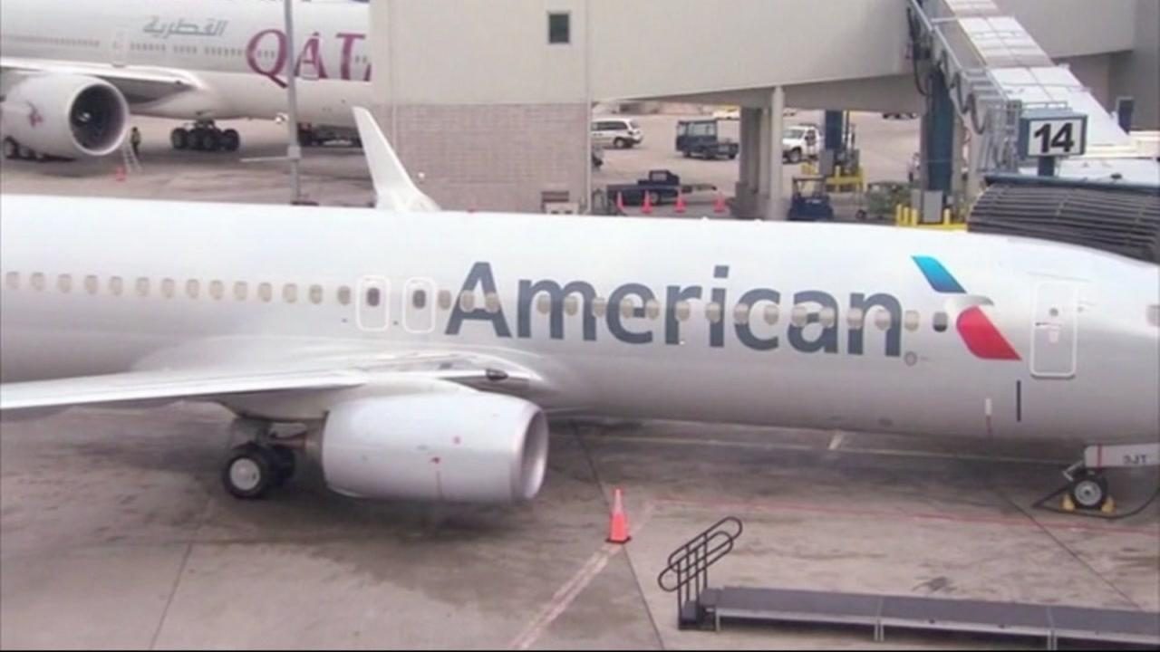 An American Airlines flight sits on the tarmac at an airport in this undated photo.