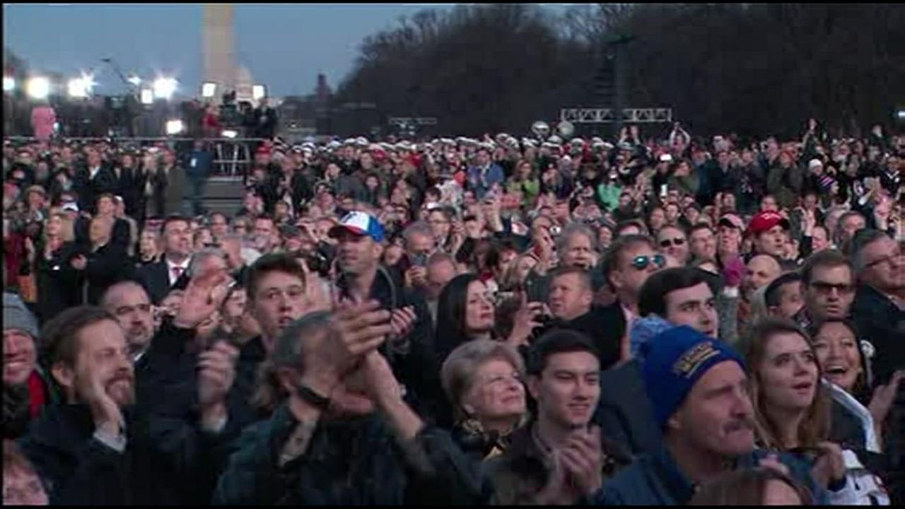 Crowds gather for the Make America Great Again Welcome concert at the Lincoln Memorial in Washington, D.C. on Thursday January 19, 2017KGO-TV