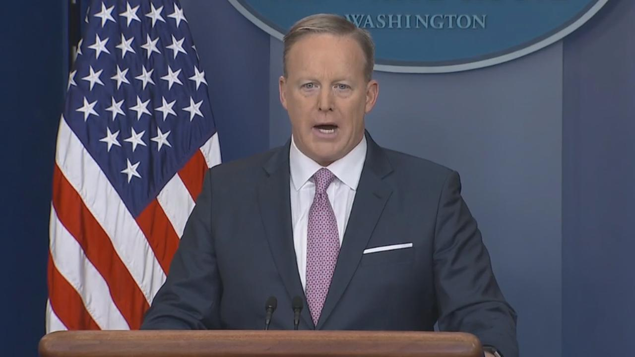 White House Press Secretary Sean Spicer holds news conference, Monday, January 23, 2017.