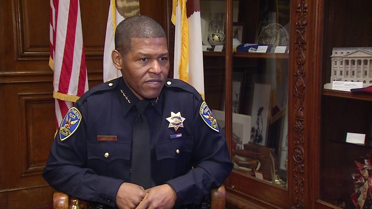 Bill Scott speaks with ABC7 News Reporter Carolyn Tyler after being sworn in as San Franciscos new police chief on Monday, January 23, 2017.
